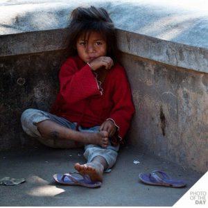 beggar girl