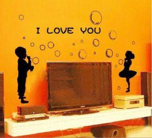 boy and girl wall